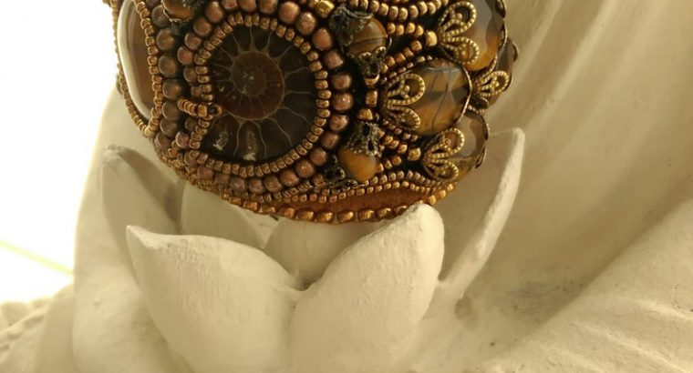 Armband met Tijgeroog en Ammoniet